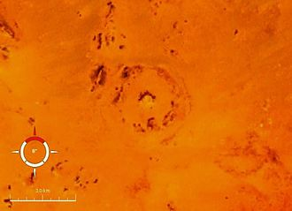 BP Structure - Landsat image of the BP structure; screen capture from NASA World Wind