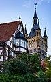 Bad Wimpfen - Altstadt - Bürgermeister-Elsässer-Haus und Blauer Turm.jpg
