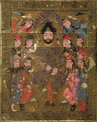 Kitab al-Aghani - Illustration from Kitab al-aghani (Book of Songs), 1216-20, by Abu al-Faraj al-Isfahani.