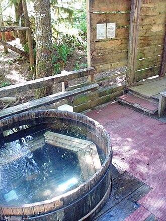 Bagby Hot Springs - The main communal tub