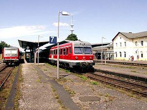 Heath Railway - Image: Bahnhofsoltau 001