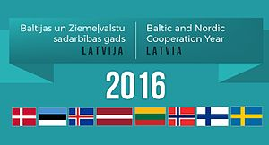 Nordic-Baltic Eight - Banner of the Baltic and Nordic Cooperation Year chaired by Latvia in 2016. Source: Ministry of Foreign Affairs of the Republic of Latvia