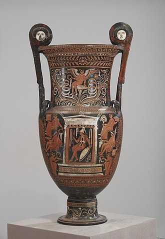 Baltimore Painter - Warrior in Campanian clothing seated in a naiskos