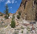 Bandelier National Monument in September 2011 - Cliff Dwellings - Frey Trail trailhead.JPG