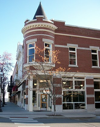 Fayetteville Historic Square - The Lewis Brothers Building currently holds the Main Branch of the Bank of Fayetteville.