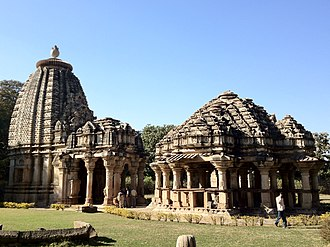 Architecture of Rajasthan - Ghateshwara Mahadeva temple at the Baroli Temple Complex. The temples were built between the 10th and 11th centuries CE by the Gujara-Pratihara kingdom.