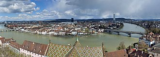 Daig (Switzerland) - View from the roof of Basel Minster. Once the See of the Prince-Bishop, it became a Lutheran church in 1529 when Basel joined the Protestant Reformation.