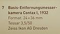 Basis - Entfernungsmesserkamera Contax I, 1932 2 ; Hinweisschild.jpg