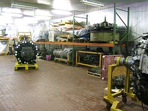 Carolinas Aviation Museum - Aircraft engines in storage at the Bat Cave. Dec 2009.