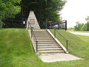 Canadian war memorials - Image: Battle Hill NHS