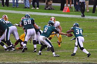 Bryce Brown - Bryce Brown takes a handoff from Philadelphia Eagles quarterback Nick Foles.