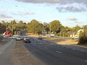 Beach Road, Perth - View east towards intersection with Wanneroo Road