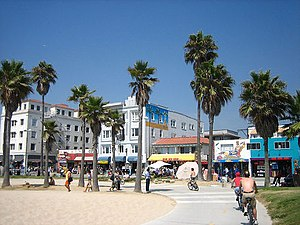 "When Love Takes Over - Venice Beach and the Boardwalk, as seen in the music video for ""When Love Takes Over"""