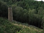 Ironstone mine ventilation flue in Chargot Wood, 1150 m south west of Langham Farm