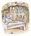 Beatrix Potter, Benjamin Bunny, Mrs Rabbits shop.jpg