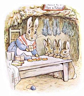 The Tale of Benjamin Bunny - Image: Beatrix Potter, Benjamin Bunny, Mrs Rabbits shop