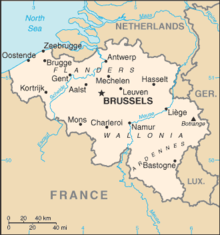 an enlargeable basic map of belgium