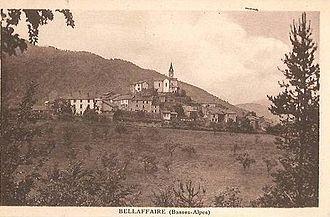 Bellaffaire - The village in the 1920s