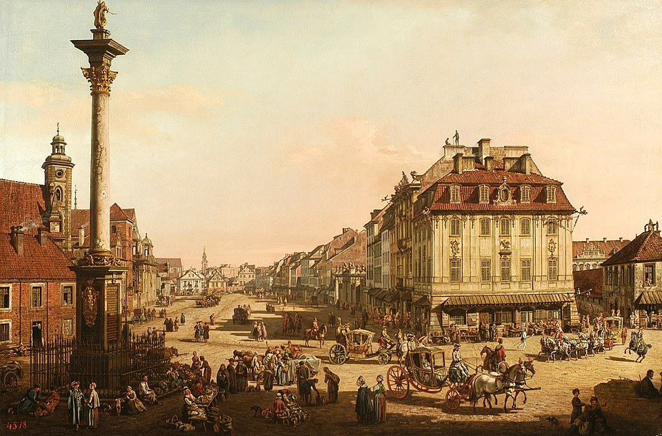 Bellotto Cracow Suburb as seen from the Cracow Gate