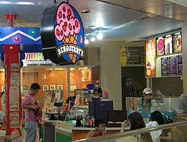 Een Ben & Jerry's-winkel in Singapore