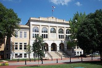 Downtown Bentonville - Benton County Courthouse, July 2011