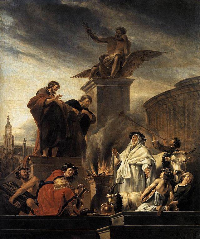 루스드라의 바울과 바나나 (니콜라스 베르헴, Nicolaes Pieterszoon Berchem)