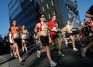 Marathon long-distance running event with an official distance of 42.195 kilometres