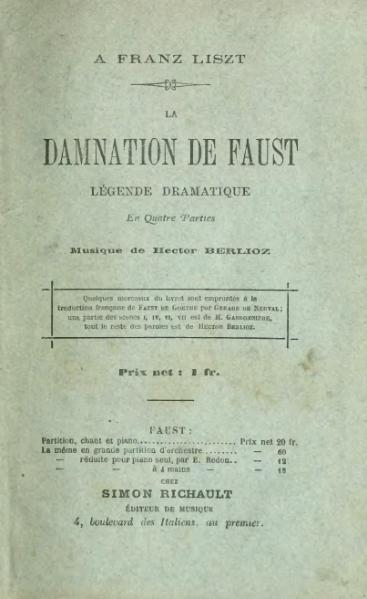 File:Berlioz - La Damnation de Faust, Richault.djvu