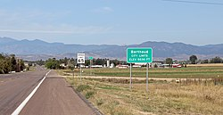 Entering Berthoud from the east.