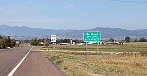 Berthoud, Colorado - Entering Berthoud from the east.