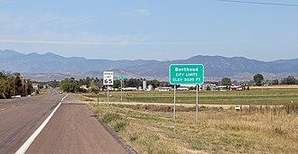 Berthoud, Colorado - Entering Berthoud from the east.