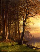Bierstadt Albert Sunset in California Yosemite.jpg