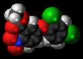Bifenox molecule spacefill.png