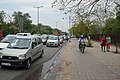 Biking on Footpath - Mathura Road - New Delhi 2014-05-13 2740.JPG