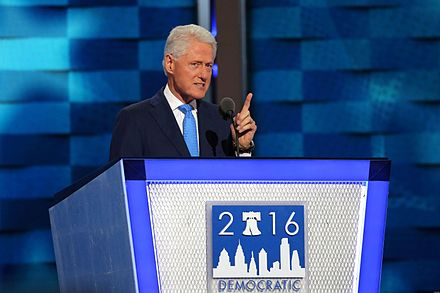 Clinton speaking at the 2016 Democratic National Convention Bill Clinton DNC July 2016.jpg