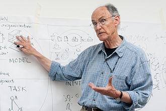 Bill Verplank - Bill Verplank giving a lecture at CIID in July 2010