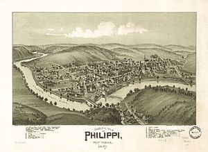 Philippi, West Virginia - Bird's Eye View of Philippi, West Virginia, 1897
