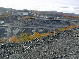 Kirkenes–Bjørnevatn Line - The main facility of Bjørnevatn Mine, which constitutes the southern terminus of the line