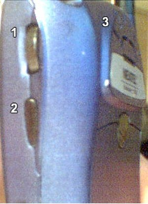 Scroll wheel - Trackwheel (1) on a BlackBerry
