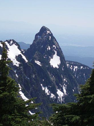 Blanshard Peak - Blanshard Peak seen from near the summit of Golden Ears (mountain)