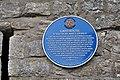 Blue plaque on The Grange Gatehouse, Llantwit Major - geograph.org.uk - 1277966.jpg