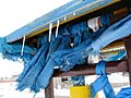 "Blue silk scarves (""hadag"") in Karakorum, Mongolia -- the capital of the Mongol Empire between 1235 and 1260.jpg"