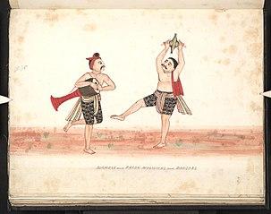 Burmese and Karen musicians and dancers (I)