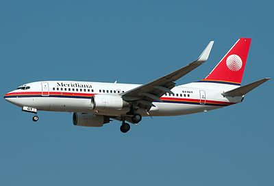 Boeing 737-73V of Sardinian airline Meridiana Fly - Sardinia