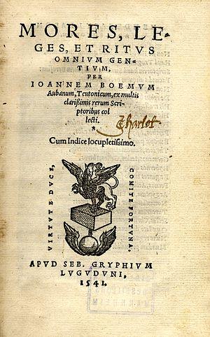 Boemus, Johann (m. 1520?)