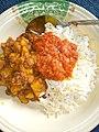 Boiled rice with beans and potato porridge.jpg