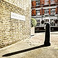Bollard At Junction With Lower Richmond Road (colour).jpg