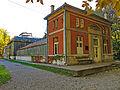 Botanička bašta Jevremovac, Beograd - staklena bašta sa upravnom zgradom 03.jpg