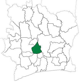 Bouaflé Department - Bouaflé Department from 1980 to 1988.