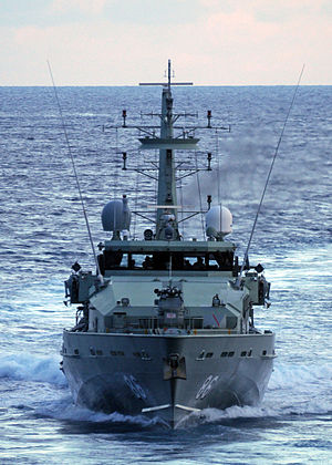 HMAS Albany (ACPB 86) - HMAS Albany operating in the Timor Sea during 2012